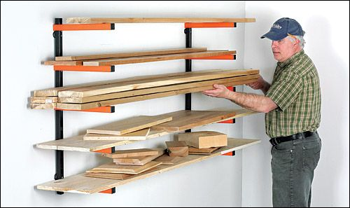 5 shelf wood rack - garage storage -may be perfect for the skis