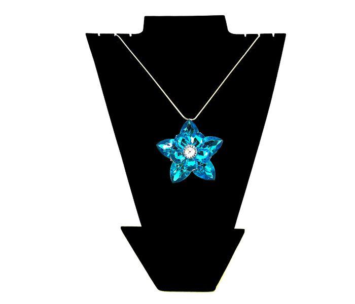 Bizsu Nyakláncok Jégvirág kék ezüst