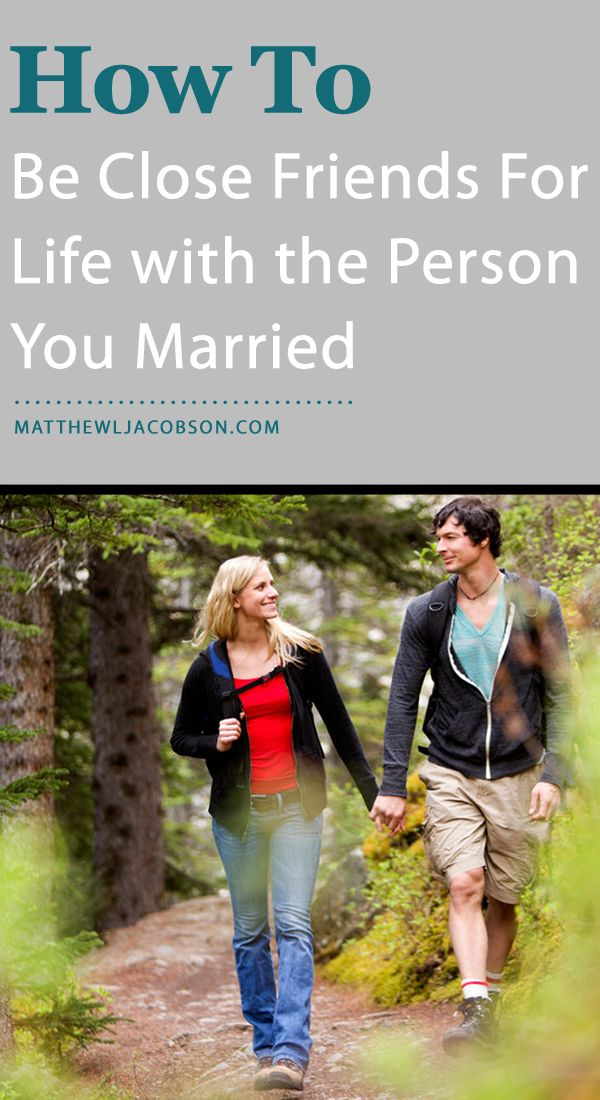 If you don't pursue the habit of friendship in your marriage, it will never…