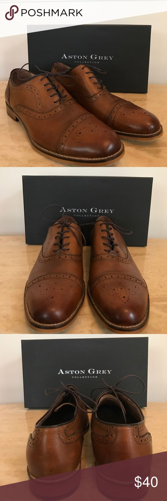 Mens Aston Grey Kobe Shoe Mens Aston Grey Kobe dress shoe in tan gently used. Yes, you called it...the hubby shares my shopping obsession 😉 Comes in original shoebox. Make an offer or bundle for additional savings. Aston Grey Shoes Oxfords & Derbys