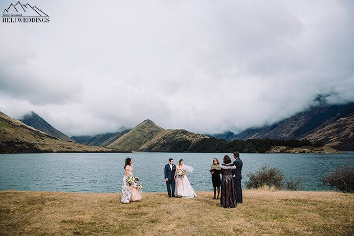Moke Lake Wedding Ceremony in Queenstown New Zealand
