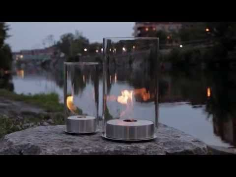 Romeo & Juliette - Ethanol Tabletop Fire Features by Eco-Feu - YouTube