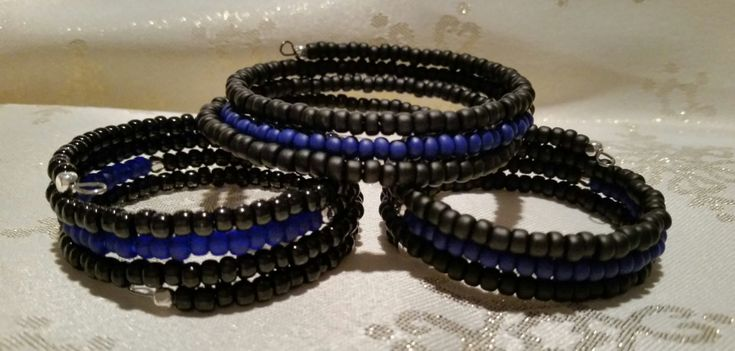 ON SALE Thin Blue Line Bracelet by JujeesJewells on Etsy