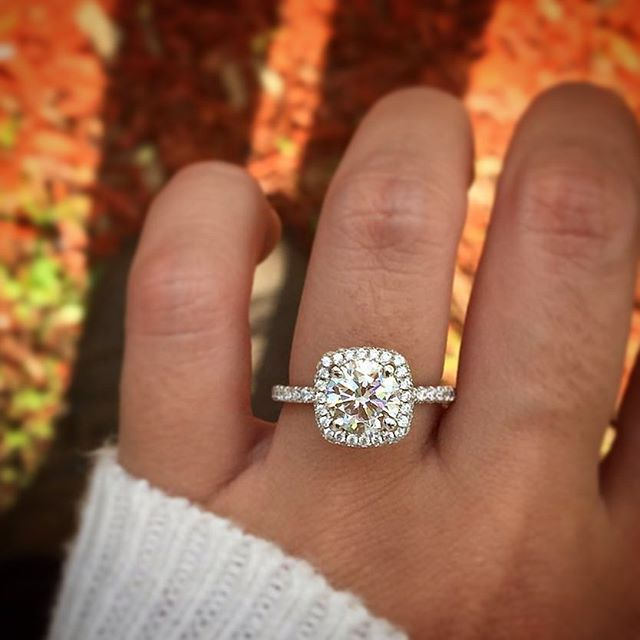 17 Best ideas about Square Engagement Rings on Pinterest Square