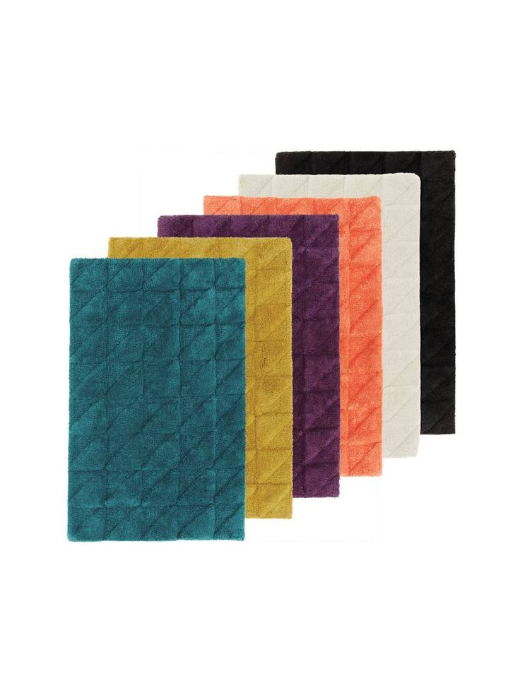 LINEN HOUSE- ANGULAR BATHROOM TOWEL- DEEP TEAL/ PINEAPPLE/ WINE/ LOBSTER/ WHITE/ MAGNET- BATH MAT 50 X 80CM