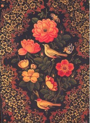 Gol-o-Morgh / Pure persian design. Gorgeous!