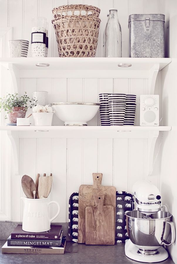 kitchen shelving - love this!