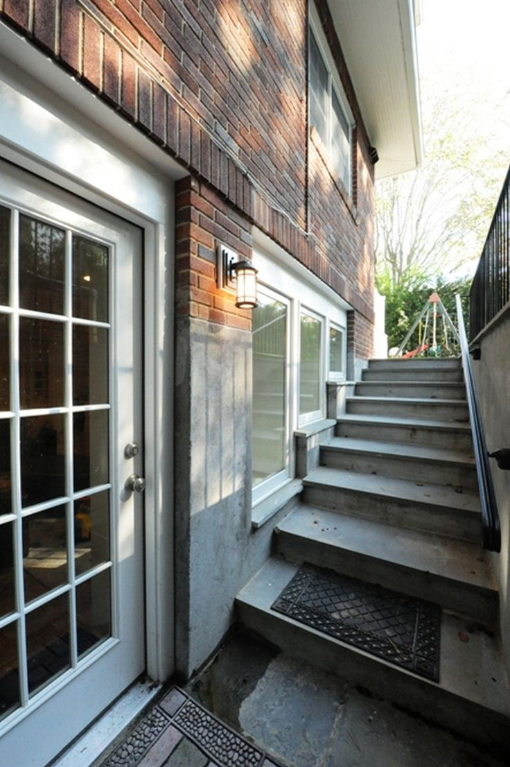 14 best outside basement stairs images on pinterest for Walkout basement windows