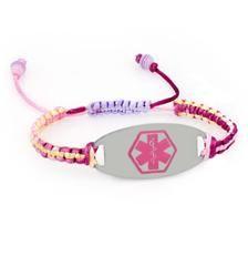 Pastel Princess Pink Oval Medical ID Bracelet