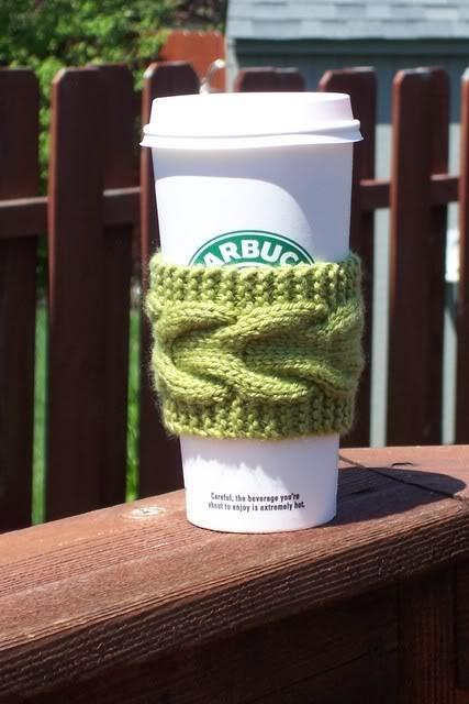 Knit Coffee SleeveCoffee Sleeve, Crafts Ideas, Free Pattern, Coffe Sleeve, Sleeve Pattern, Knits Coffee, Christmas Ideas, Crochet Knits, Coffee Cozy