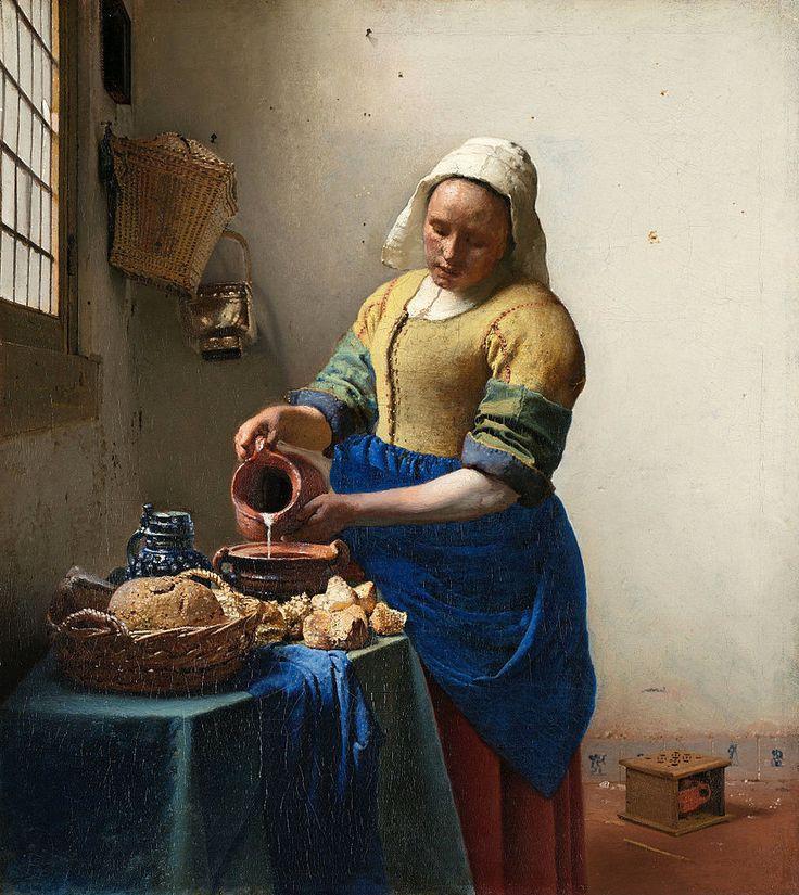 Jan Vermeer (Johannes Vermeer), Delft 1632 - 1675 The Milkmaid (1658/60)