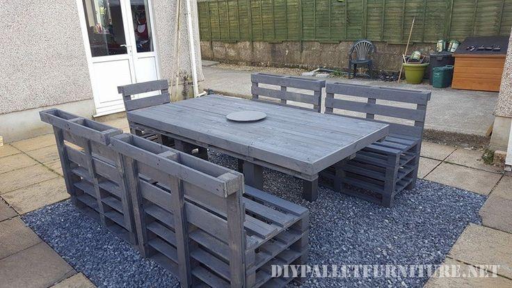 Salle manger pur le jardin de palettes tables mobilier d 39 ext rieur palette meuble jardin - Table a manger palette ...