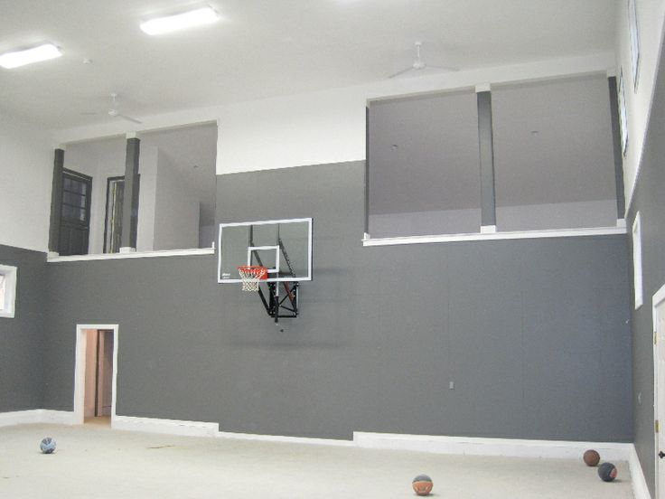 Basketball Court Inside Garage Garage Indoor Basketball
