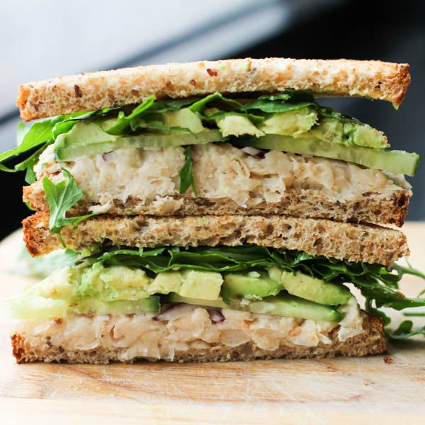 add tuna Smashed White Bean and Avocado Sandwich | 27 Awesome Easy Lunches To Bring To Work