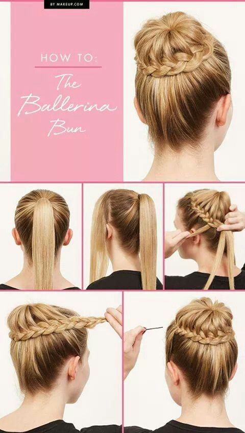Braided ponytail bun Peinado de bailarina
