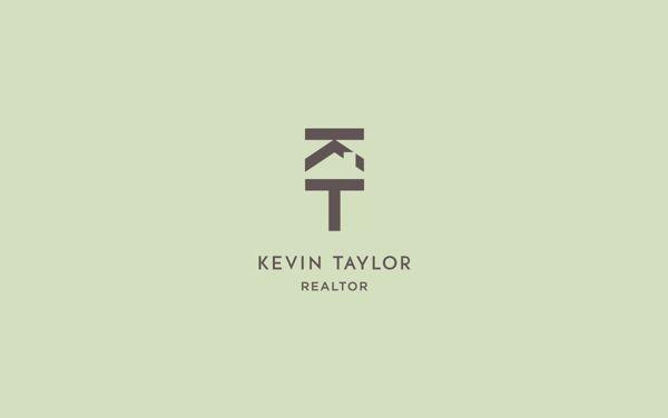 negative space (Kevin Taylor - Realtor Logo by Brad Wofford, via Behance)