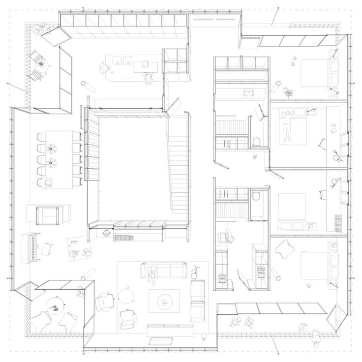 EFHouse Beautiful plan perspective