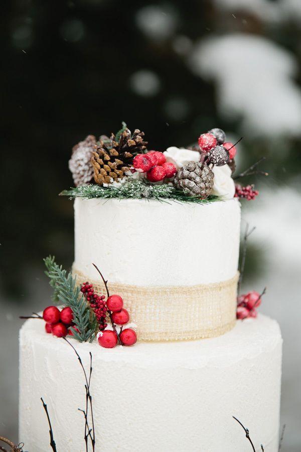 Υπέροχες προτάσεις για γαμήλια χριστουγεννιάτικη τούρτα