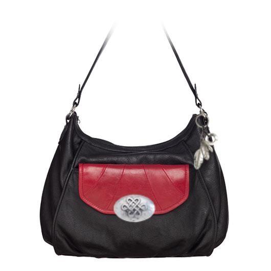Black Lily Grace Adele Handbag, Red Rae Leather Clutch, Celtic Medallion Clip-on, Amulet Clip-on www.darla.graceadele.us