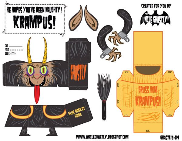 Gasp! It's...yer Uncle Ghastly!: He Knows If You've Been Naughty! Krampus- Ghastlie 04