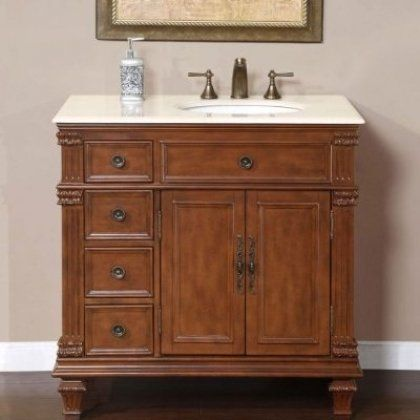 Pictures In Gallery Special Offers Esther Single Sink Bathroom Vanity Set Sink Sink on the Right