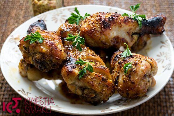 Przepis na smaczne udka z kurczaka z grilla. Udka w musztardzie i miodzie. Najlepsze i szybkie danie z udek.