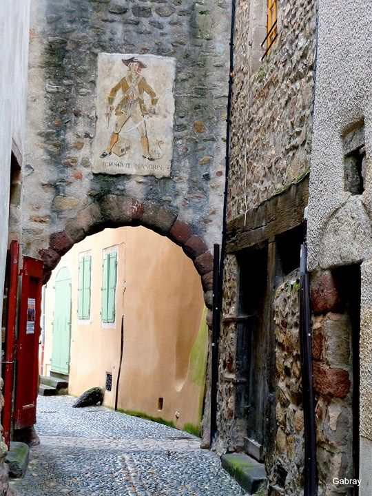 Maison de Mandrin.Brioude. Auvergne