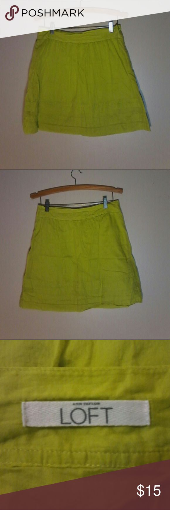 Anne Taylor Loft Lime Green Skirt Brand new without tags. Never been worn LOFT Skirts