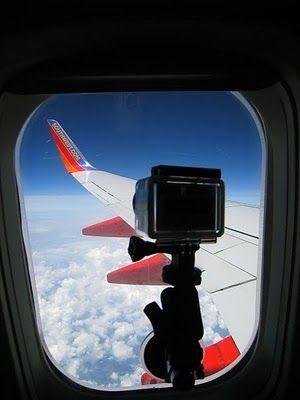 Con la #GoPRO a todas partes!! #viajar #avion #alquilar