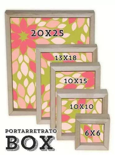 portaretrato madera box p/foto 10x15 cm sin pintar- fábrica