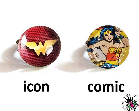 Wonder Woman Superhero Rings