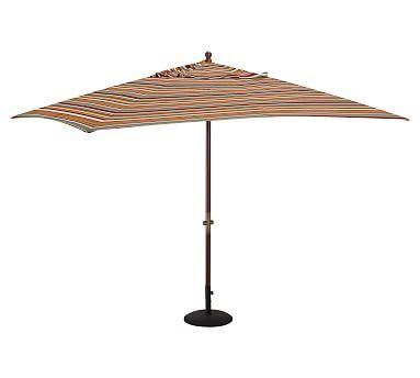 Rectangular Umbrella Canopy Replacement, Outdoor Canvas Giorgia Stripe, Warm