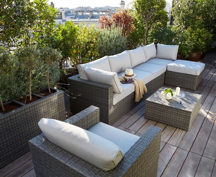 11 best terrasse mobilier images on Pinterest | Terrasses, Balcons ...