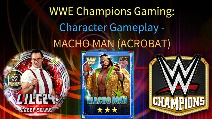OMG WOW  MACHO MAN ACROBAT GAMEPLAY VIDEO #wwe #wwechampions #gaming #mobilegaming #wrestling #game