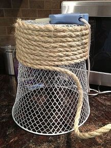100 bathroom makeover reveal, bathroom ideas, home decor, small bathroom ideas, 1 waste basket wrapped with rope