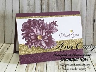 Stampin' Up!® Australia: Ann Craig - distINKtive STAMPING designs: Heartfelt Blooms in Fresh Fig
