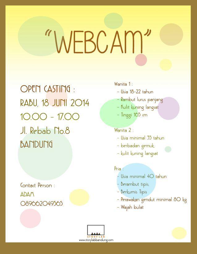 """Open casting film pendek """"Webcam"""""""