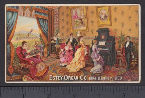 Antique-Estey-Organ-Music-Recital-Factory-View-Victorian-Advertising-Trade-Card