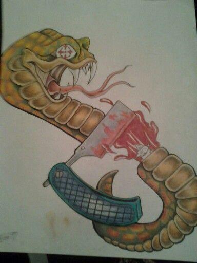 Anti venom #snake #straitrazor #newschool