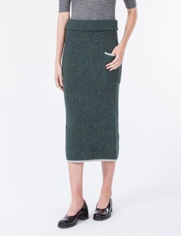 Ribbed Skirt Wool Flick