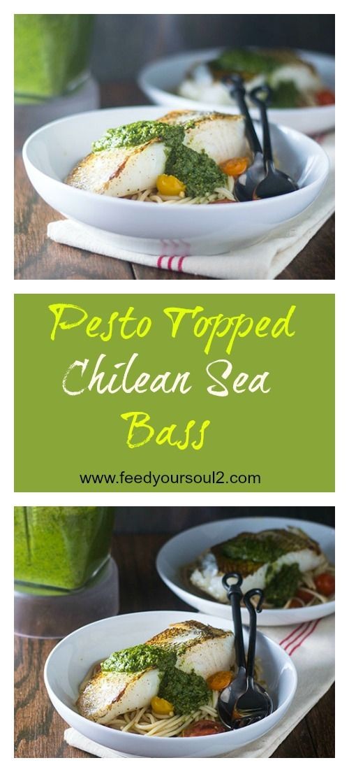 Pesto Topped Chilean Sea Bass from Feed Your Soul Too Seafood | Gluten Free | Pesto