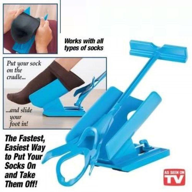 Foot Sock Slider Aid Kit Fast Easy Helper Pregnancy Injuries Living Tools New #Unbranded