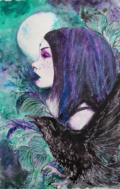 Forest Witch.  My Art work ~  Instagram @bebemarie00