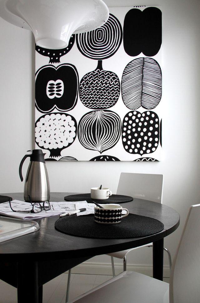 Kahvipöydässä, kangastaulu, Marimekko
