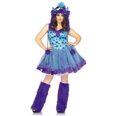 Plus Size Adult Halloween Costume Fancy Dress Monster High Polka Dotty 1x-2x New