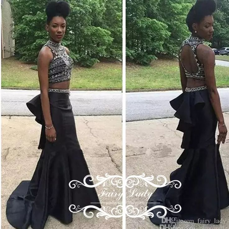 Customize Mermaid Black Girls Prom Dresses Long Pleat Mermaid 2017 Two Piece Crop Top Beads Sexy Backless Graduation Party Gowns Camouflage Prom Dresses Cheap Black Prom Dresses From Fairy_lady, $137.4| Dhgate.Com