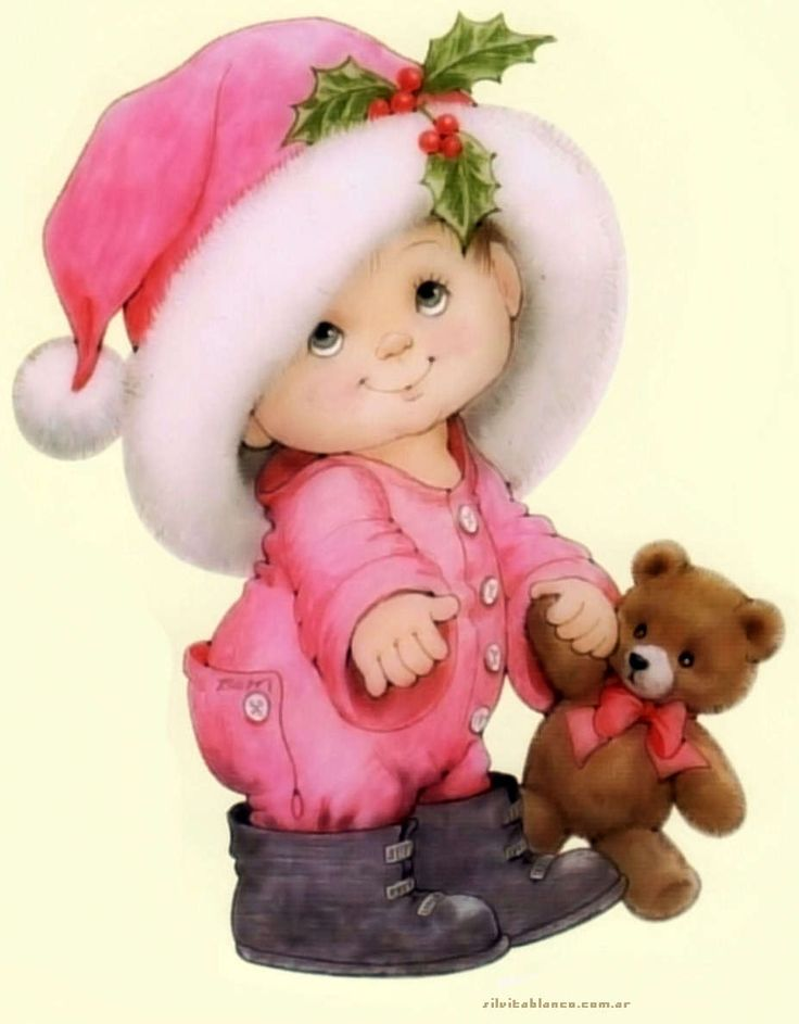 Pink Christmas Illustration by Ruth Moorehead