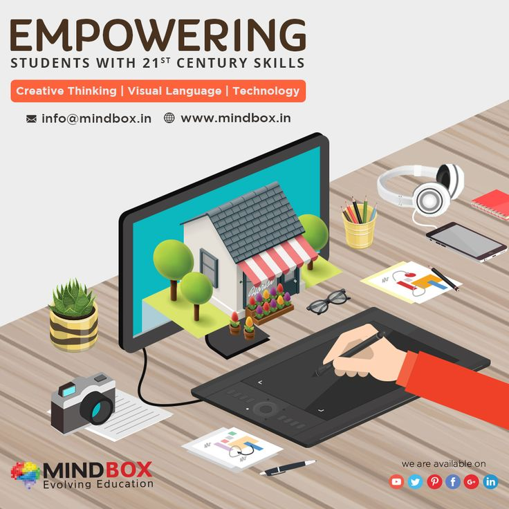 At MindBox, we believe the New Media & Technology can empower our children to not only communicate ideas & information more effectively, but also to generate new ideas, products, and processes. To make our children Future Ready by teaching them the 21st Century Skills like Design Thinking, and the universally acceptable language of Visual Communication with the help of Technology Tools of Creativity and Imagination.