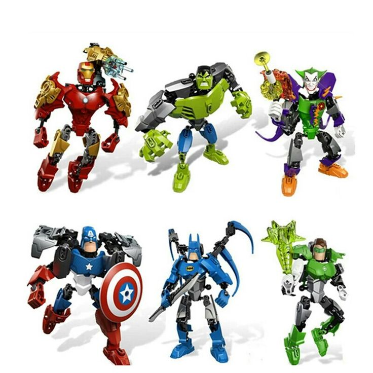 Avengers Hero Captain American&Hulk&Iron Man&Batman&Clown Puzzle Action Figure Toy Building Blocks Christmas Gift  For Kids price: $7.59