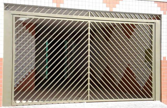 Portão Tubular EP-003 com preenchimento de metalon de aço carbono 100% galvanizado em diversos perfis.